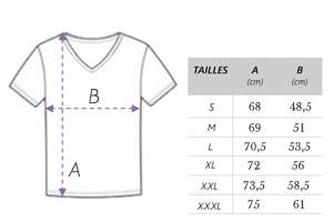 ★SE42 /Fierté Populaire/ Guite des tailles T-Shirt Homme Coupe Ajustée ColV 100% Coton Biologique